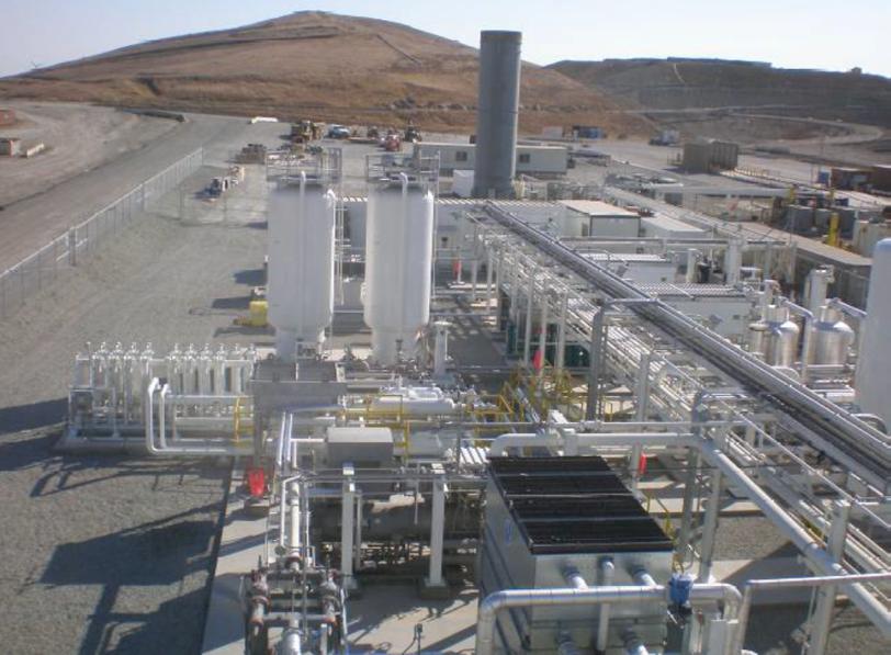 Gas Processing Equipment at Altamont, CA Landfill